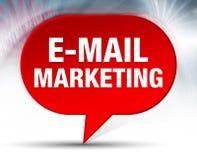 E-mailowy Marketingowy Czerwony bąbla tło ilustracja wektor
