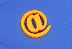 E-mailowy symbol z Binarnego kodu tłem Obrazy Royalty Free