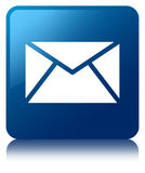 E-mailpictogram blauwe vierkante knoop stock illustratie