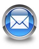 E-mailpictogram glanzende blauwe ronde knoop Royalty-vrije Stock Afbeeldingen