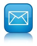 E-mailpictogram speciale cyaan blauwe vierkante knoop vector illustratie