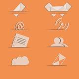 e-mailpictogramplaatsen Stock Afbeeldingen