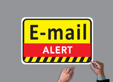 E-mails Hacked Warning Digital Browsing and virus Royalty Free Stock Photography