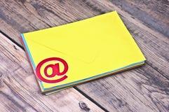 E-mailsymbool Royalty-vrije Stock Foto