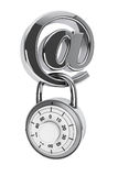 E-mailsymbool met Hangslot Royalty-vrije Stock Foto's