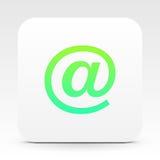 E-mailsymbool op wit tekstvakje royalty-vrije illustratie