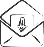E-mailteken Royalty-vrije Stock Foto's