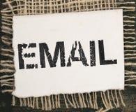 E-mailtitel Royalty-vrije Stock Foto's