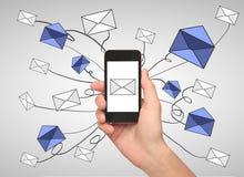 E-mailvoorzien van een netwerkconcept Royalty-vrije Stock Foto's
