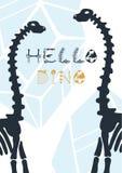 E Manifesto ciao Dino di Dino del fumetto royalty illustrazione gratis
