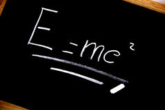 E = mc²  Einstein formula  Stock Image