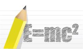 E=mc2 illustratieontwerp stock illustratie