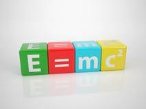E=mc2 - Mots de série hors de Letterdices Image stock