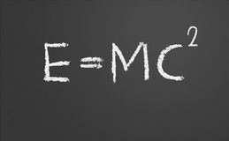 E=mc2. Theory of relativity Stock Photos