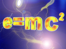 E=mc2 Images libres de droits