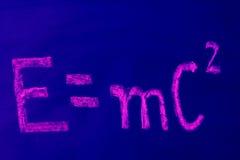 e mc2 免版税库存图片