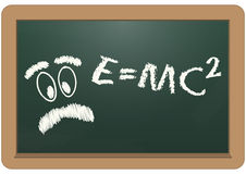 E=mc2 chalkboard Stock Photos