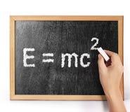 E=mc2 sulla lavagna in bianco illustrazione vettoriale