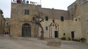 E Mdina é destino do turista do populer em Malta video estoque