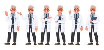 E medicinsk arbetare vektor illustrationer