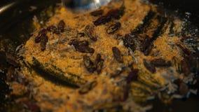 E Mengelingskruiden Chef-kok Cooking Geassorteerde kruiden Peper en zout stock footage