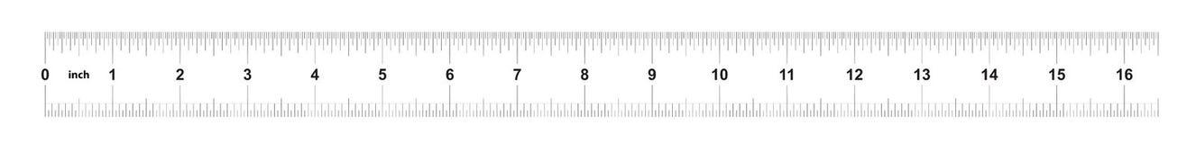 E Metrische heerser 160 duim Nauwkeurig metend hulpmiddel Kaliberbepalingsnet vector illustratie