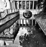 E Mirada artística en blanco y negro Fotografía de archivo