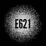 E621 Monosodium Glutamate white powder Stock Image