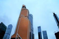 E moscow Moskvastadsskyskrapa royaltyfria foton