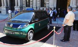 E-Motion Milano taxi presentation stock images