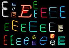 E-Neon-Zeichen Lizenzfreie Stockfotos