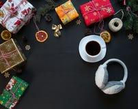 E Nieuwe jaar en Kerstmis royalty-vrije stock afbeelding