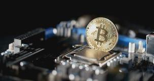 E Nuevas finanzas crypto de la tarifa de la moneda, del bitcoin y del ordenador metrajes