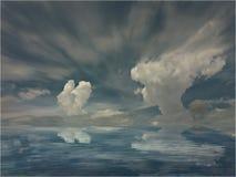 E o olhar das nuvens como uma senhora imagem de stock