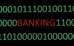 E- opérations bancaires Images libres de droits
