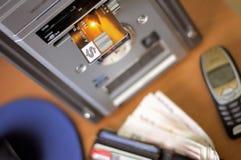 E-operação bancária Foto de Stock