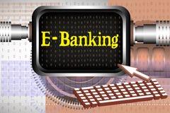 e-operação bancária Fotos de Stock Royalty Free