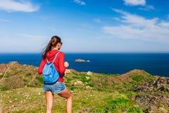 E Ostpunkt von Spanien, Girona Provinz, Katalonien Ber?hmter Tourist stockbilder