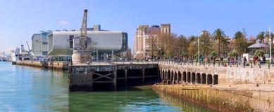 E Overzicht van het BotÃn-Centrum dat door de architect Renzo Piano wordt ontworpen royalty-vrije stock foto