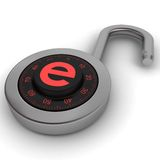 E-padlock Royalty Free Stock Photography