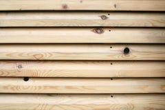 E Parede feita do plano de madeira Foto de Stock