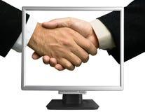 e-partnerskap Arkivfoton