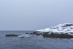 E Paysage d'hiver de Kola Peninsula images libres de droits