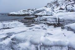 E Paysage d'hiver de Kola Peninsula photos libres de droits