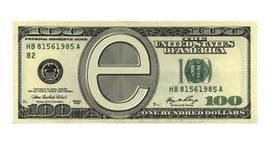 e pieniądze Zdjęcie Stock