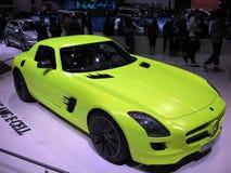 E-pilha de Mercedes SLS AMG Fotografia de Stock Royalty Free