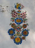 ¾ e PlÅ винных погребов в Petrov - традиционной фреске Стоковые Изображения RF