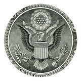 E Pluribus Unum Seal on US One Dollar Bill Royalty Free Stock Images