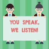 E Pojęcia znaczenie Komunikuje my twój ewidencyjną samiec i uczucia i ilustracja wektor