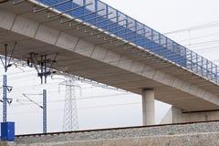 E ponte do trilho Foto de Stock Royalty Free